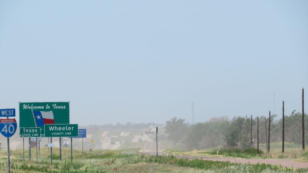 Wir erreichen Texas....viel Staub, viel heiß
