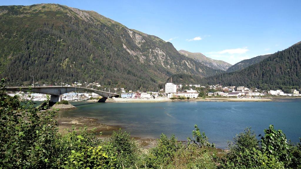Blick auf Juneau...