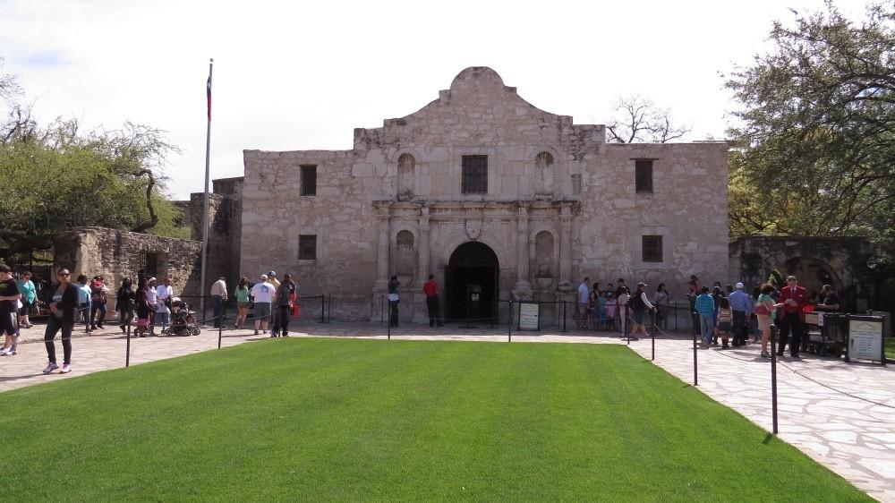 Die alte Festung Alamo...