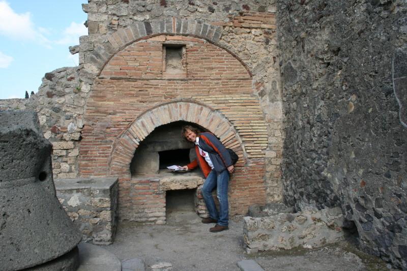 Pompei, Bäcker bei der Arbeit