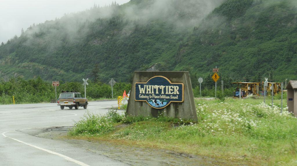 Wir sind in Whittier