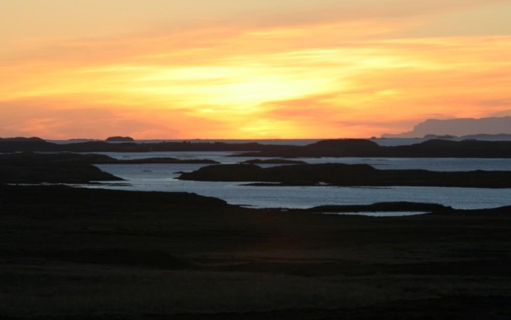 Unser erster Sonnenuntergang auf Snaefellsnes