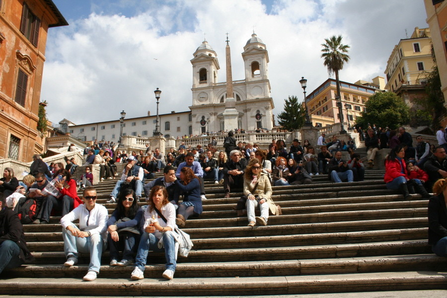 Auf der Spanischen Treppe