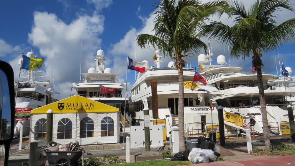 Kleine Bootsausstellung in Miami Beach...