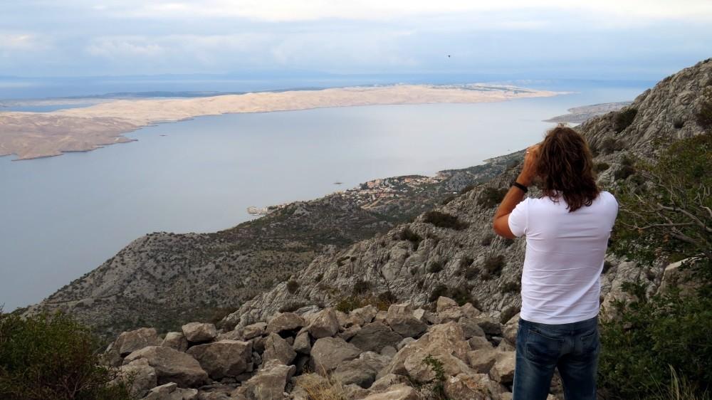 Blick auf die Insel Pag