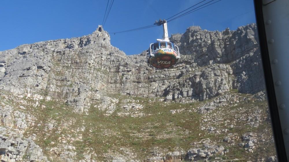 Mit der Seilbahn auf den Tafelberg