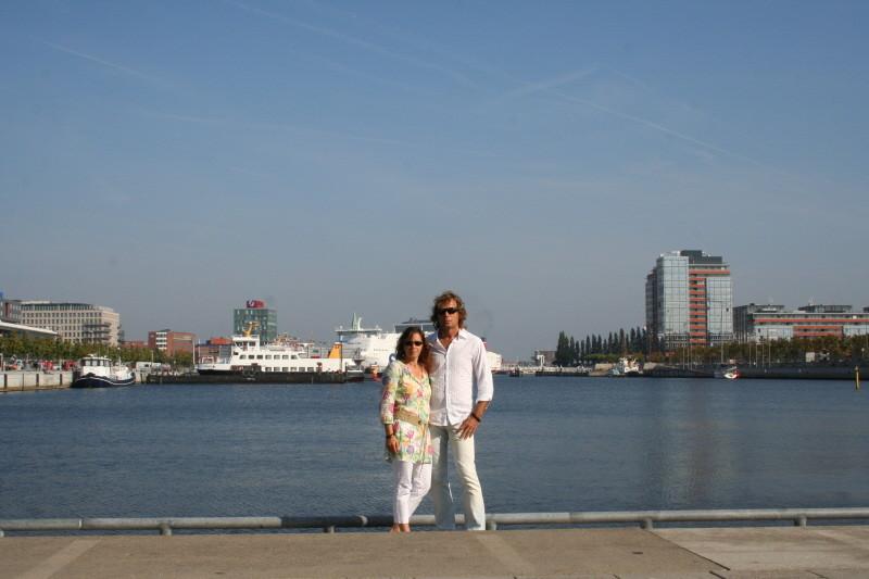 Wir im Hörnhafen von Kiel