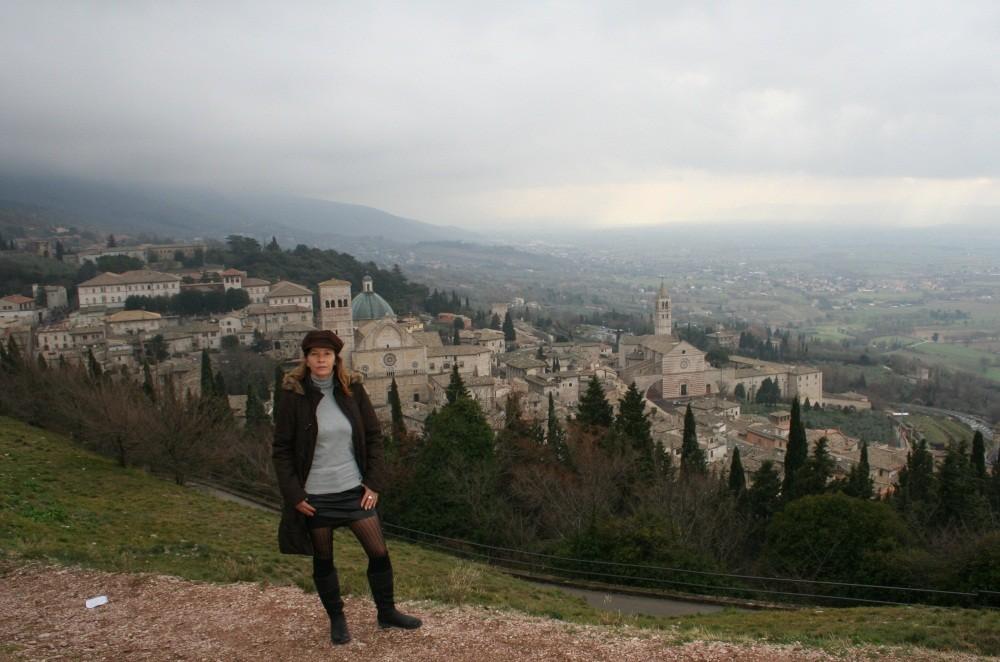Blick vom Rocca Maggiore auf Assisi