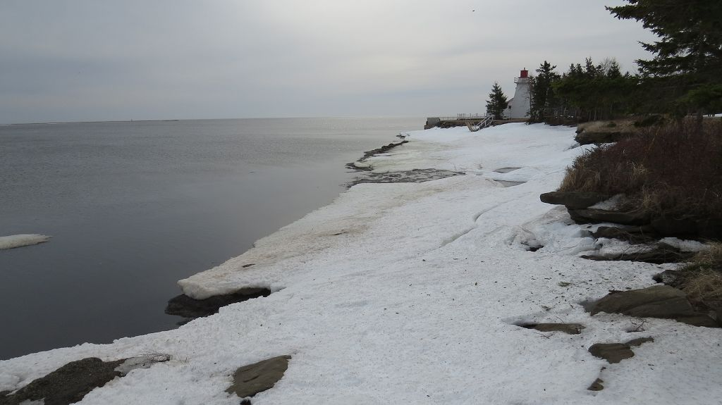 Nordküste New Brunswick kurz vor dem...