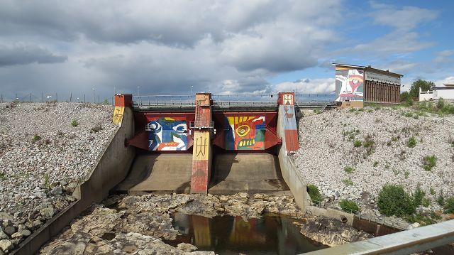 Vattenfall Staudamm bei Jokkmokk