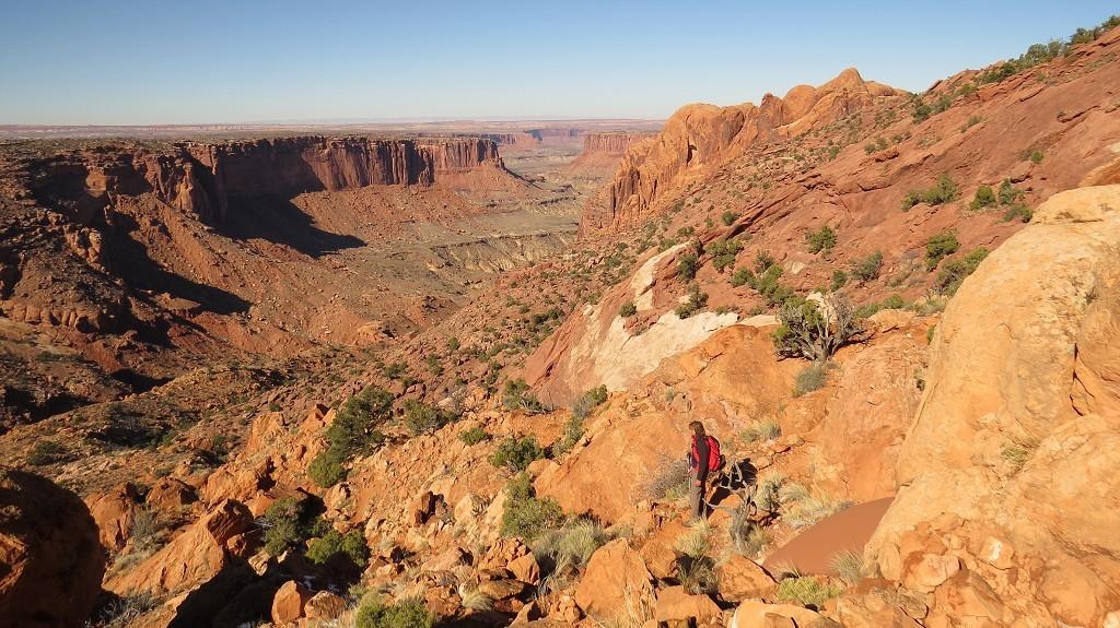 Wanderung auf dem Syncline Trail