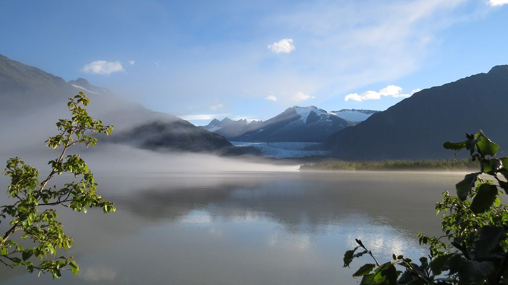 Morgenstimmung am Mendenhall Lake