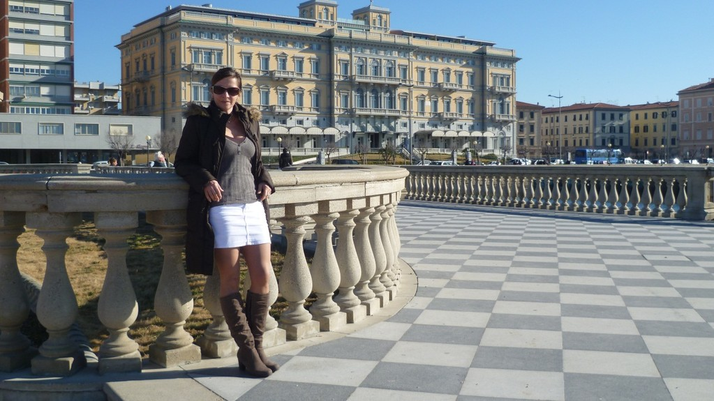 Promenade in Livorno