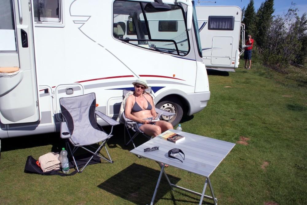Rast am Campingplatz Geysir