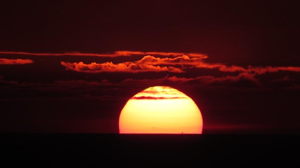 Sonnenuntergang vor unserer Haustür
