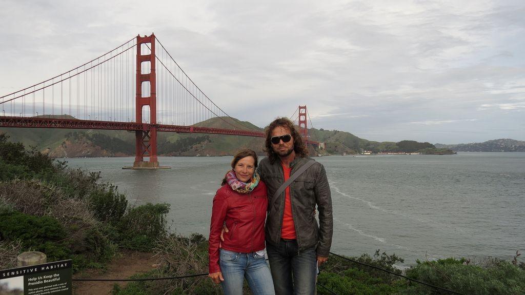 Und da ist sie...Die Golden Gate Bridge