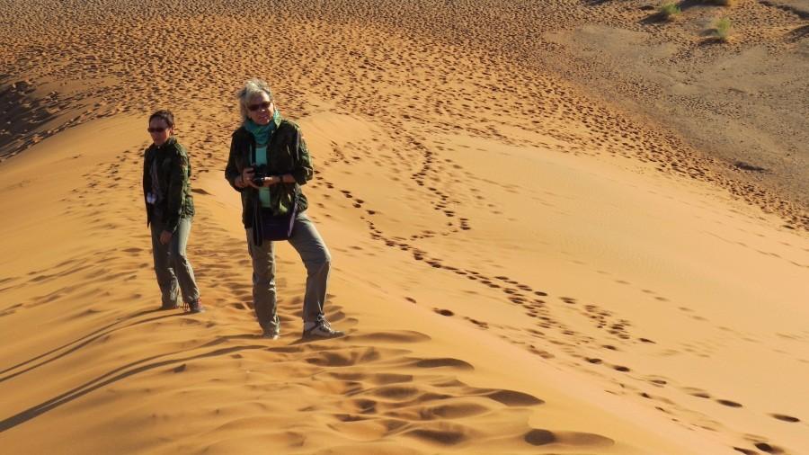 ganz schön anstrengend im Sand...