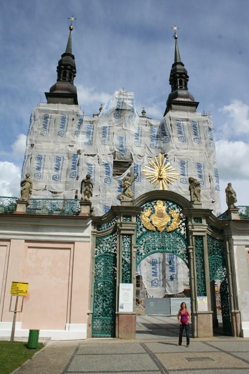 Die Wallfahrtskirche Heiligelinde wird zur Zeit renoviert.