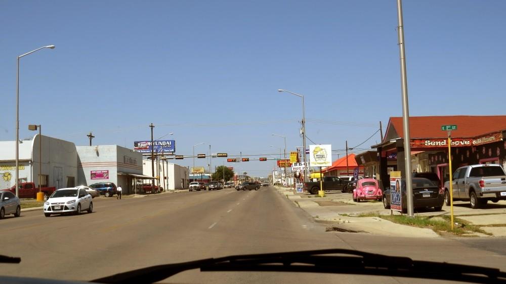 Wir fahren durch Del Rio...