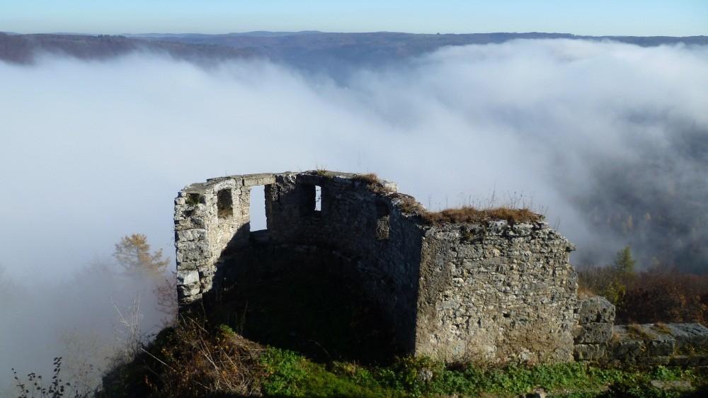 Die Ruinen von Hohenurach