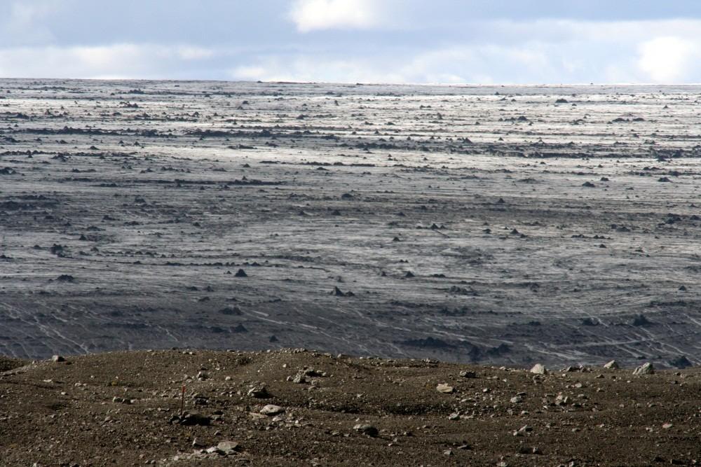 Kleiner Ausschnitt der Eiskappe des Vatnajökull