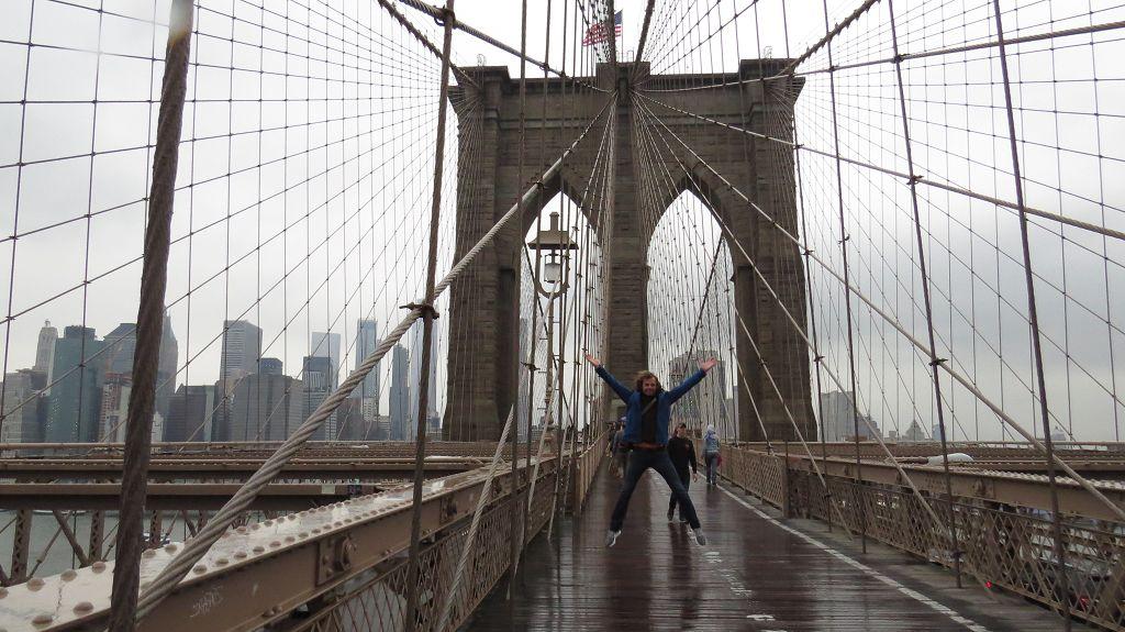 Ein letztes Mal über die Brooklyn Bridge...