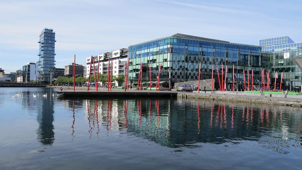 """Das neue Viertel um """"Grand Canal Docks"""""""