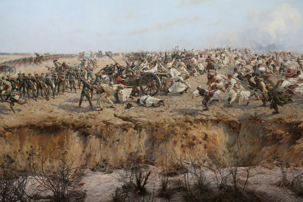 ...Panorama Raclawicka stellt die Schlacht...