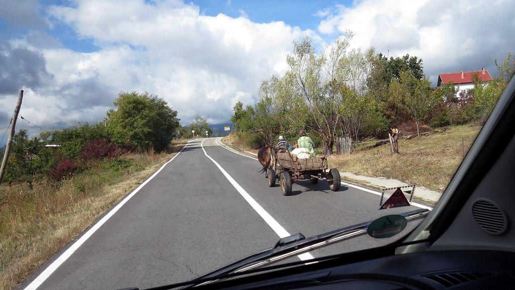 Mit dem Ochsenkarren Richtung Transalpina