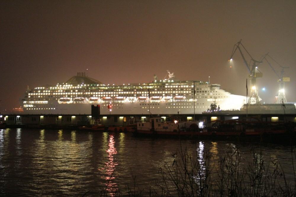 Blick über die Elbe...