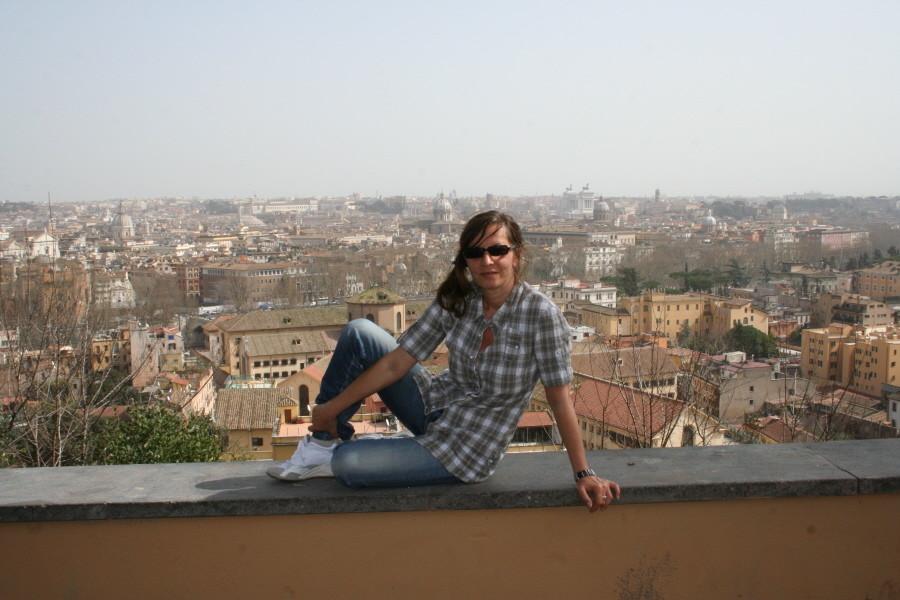 Blick auf Rom vom Gianicolo