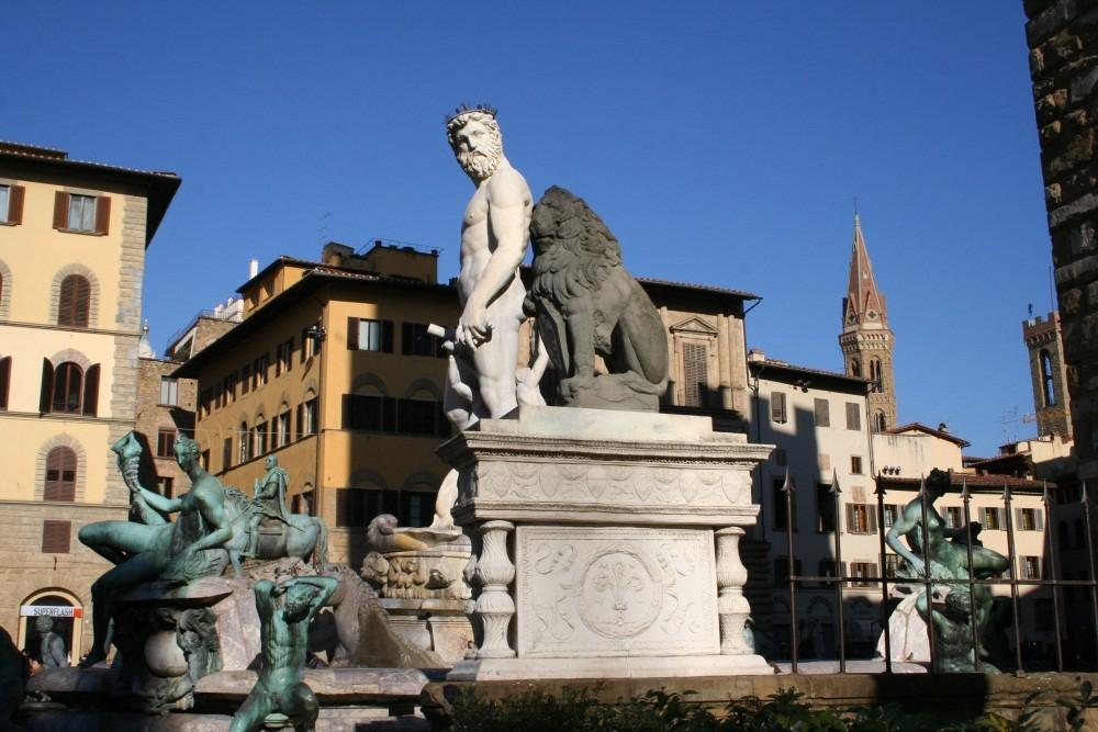 Neptun auf der Piazza della Signoria
