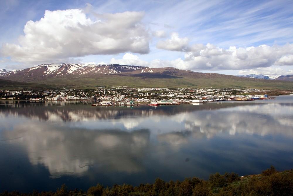 Blick auf Akureyri