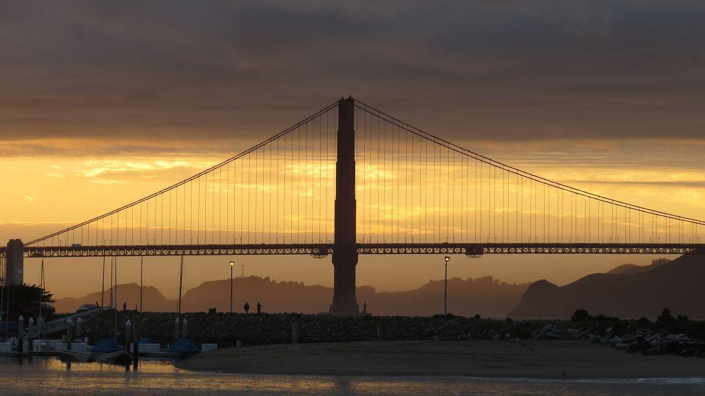 Sundown an der Golden Gate