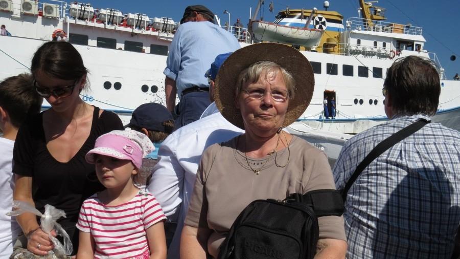 Im Boot zurück zur Fair Lady...