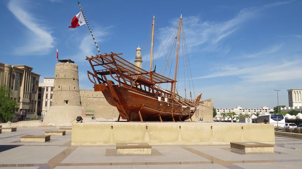 Alte Dhau an der Festung Dubai