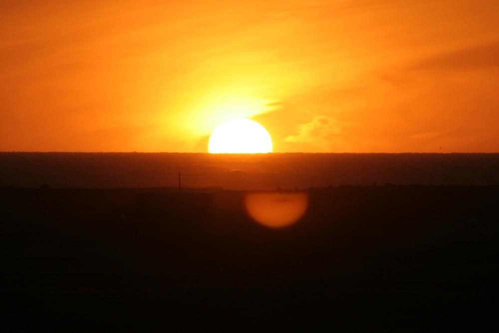 Sonnenuntergang vom Camping aus