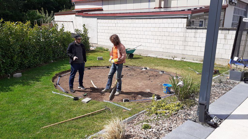 Wir bauen einen Pool.....