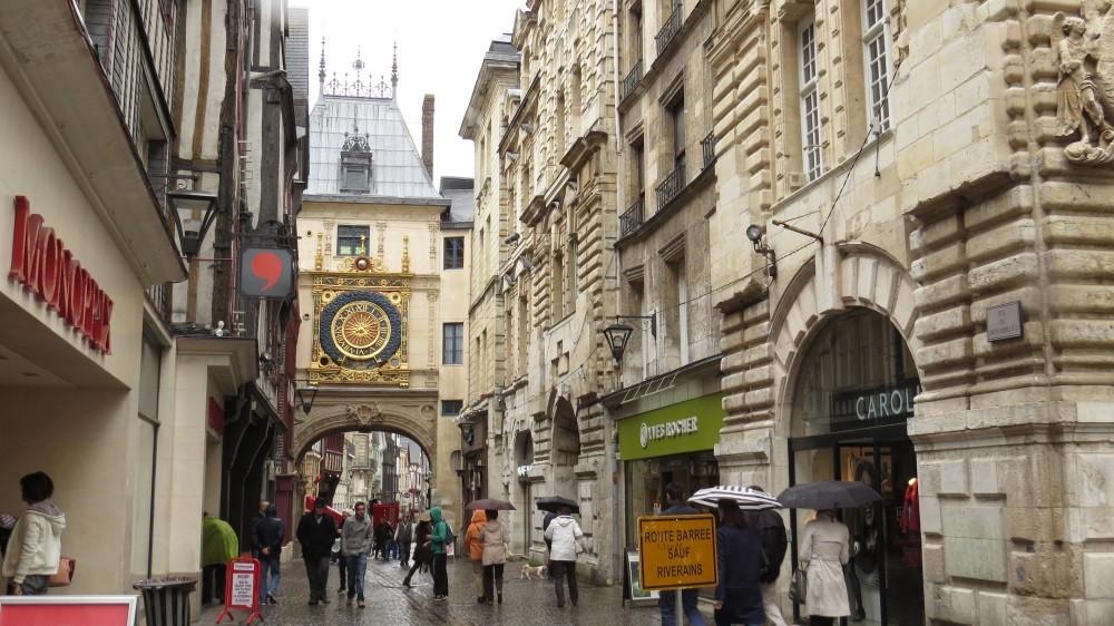 Einkaufsmeile in Rouen