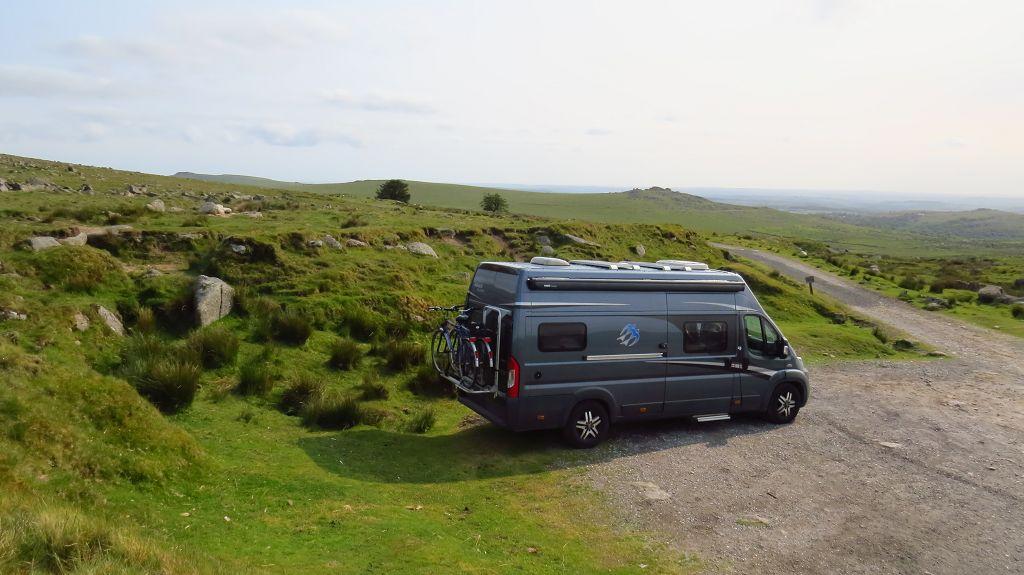 Zurück im Dartmoor. Unser Übernachtungsplatz