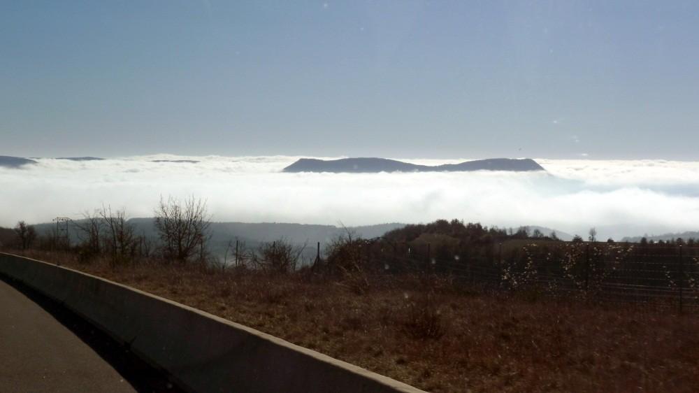 Nebel im Tal des Tarn