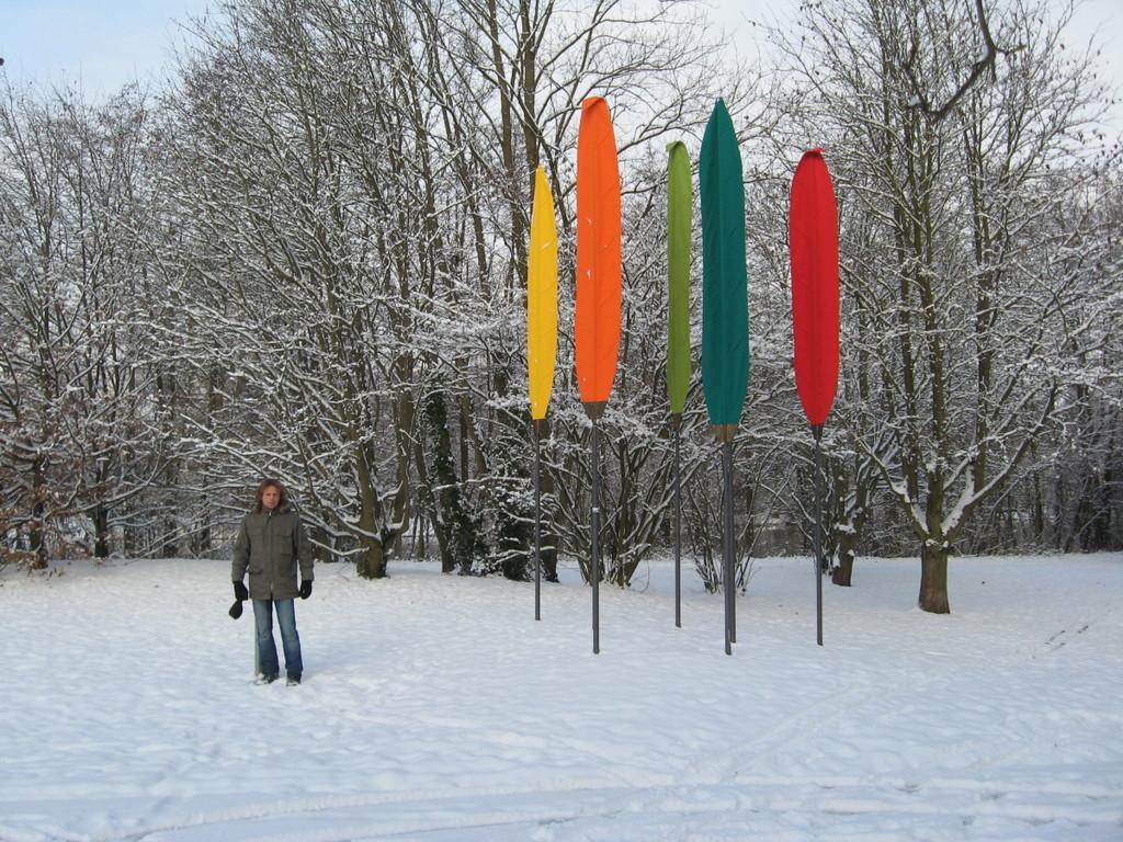 Im Schnee unterwegs