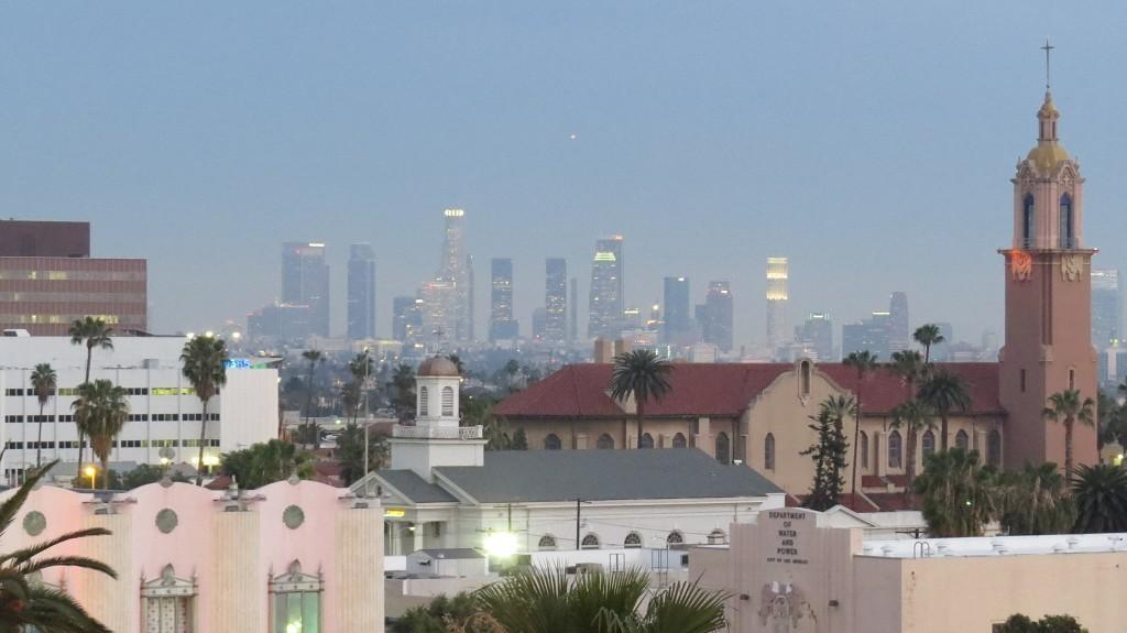 Blick auf Downtown LA