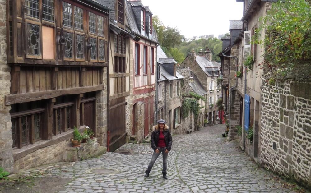 Hinauf in die Altstadt von Dinan