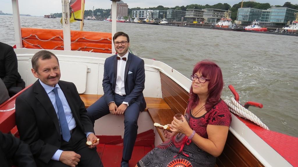 Barkassen-Tour im Hamburger Hafen