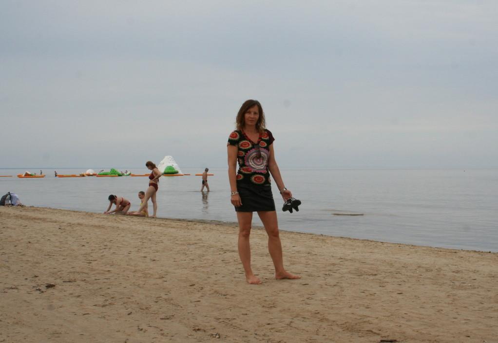 Wir fahren nach Majori, dem Strand der Städter.