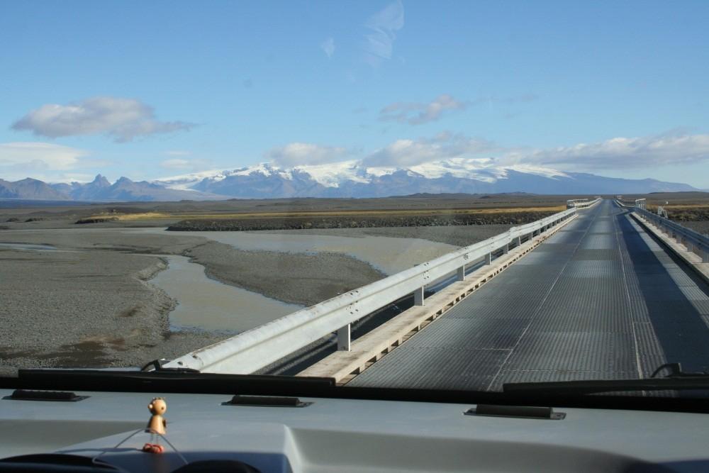 Anfahrt zum Vatnajökull...