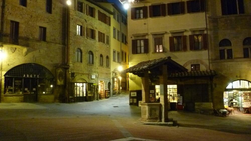 Abendspaziergang durch Arezzo