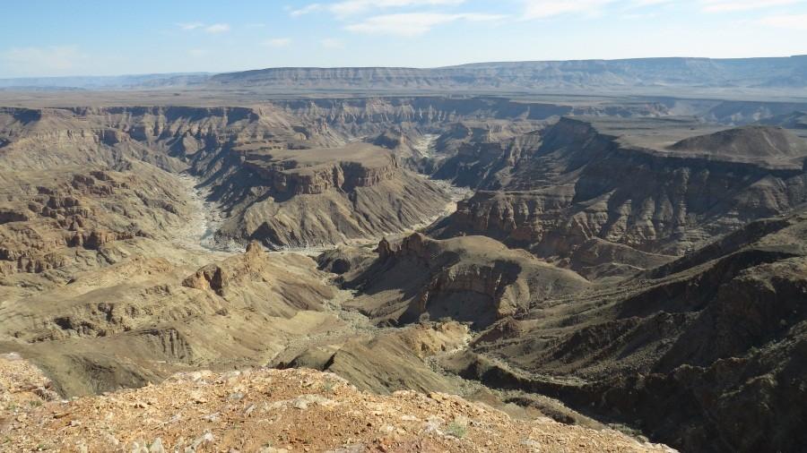 Und das ist unser erster Blick in den Canyon. Klasse!