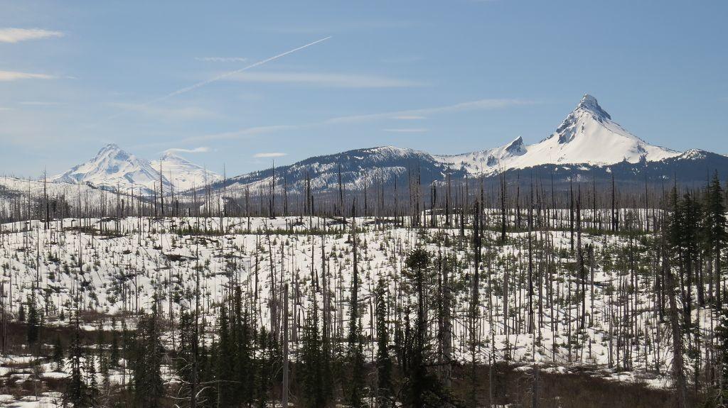 Die drei Sisters und Mt. Washington